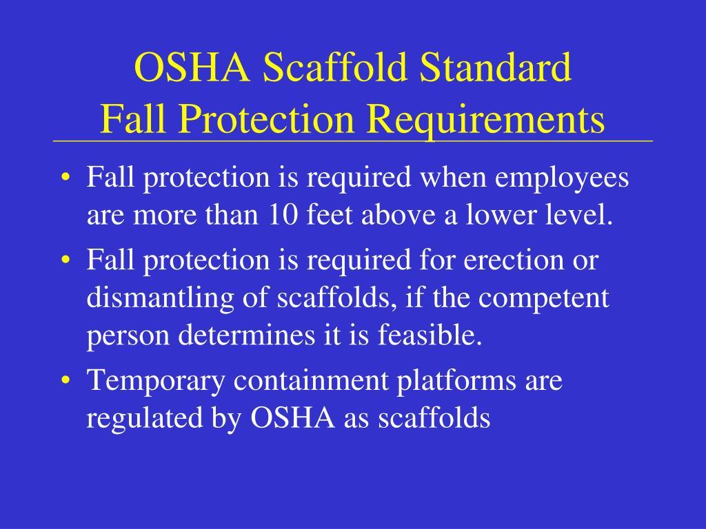OSHA Scaffold Standard