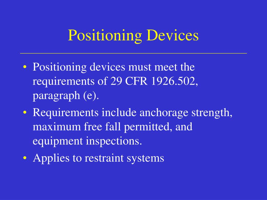 Positioning Devices