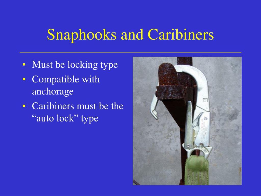 Snaphooks and Caribiners