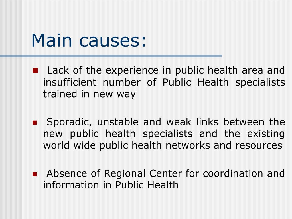 Main causes: