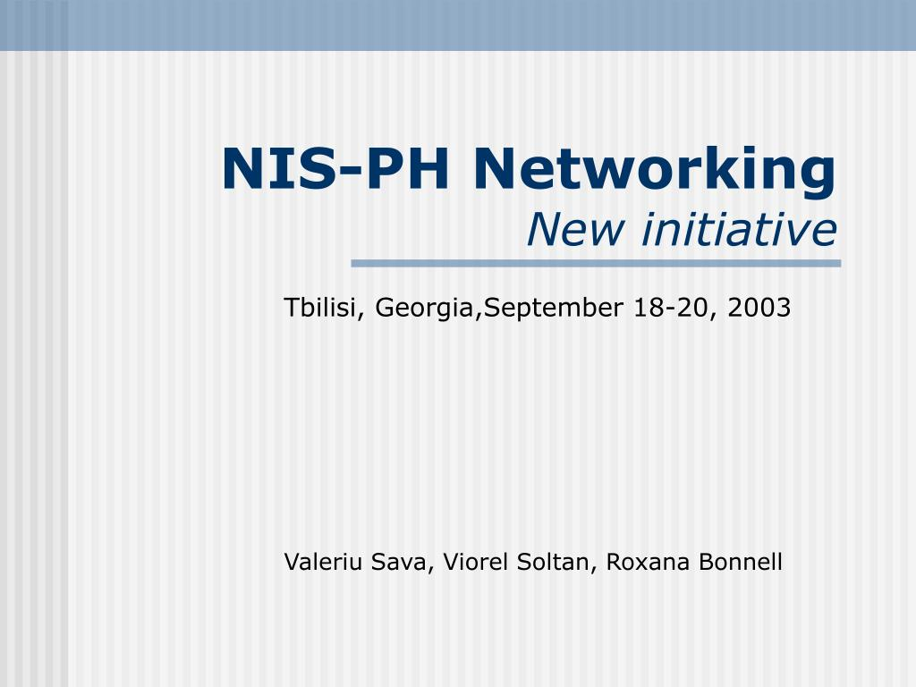 NIS-PH Networking