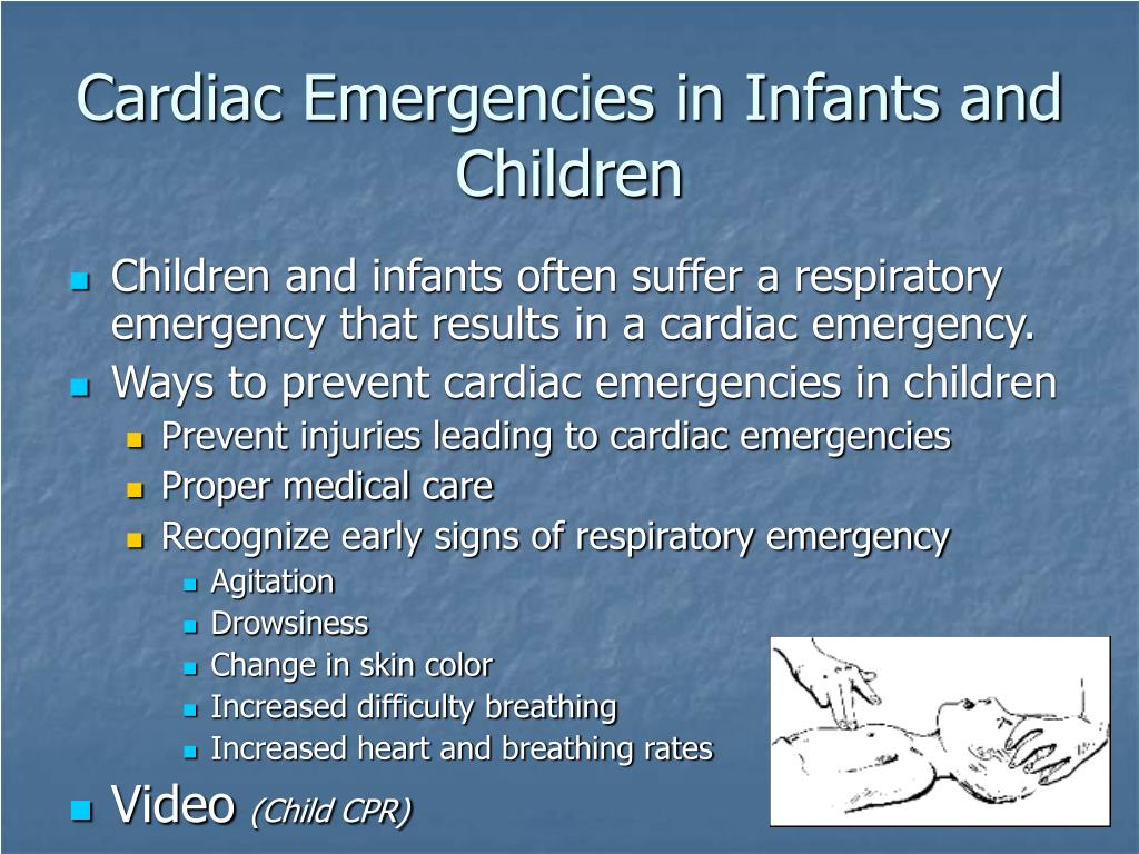 Cardiac Emergencies in Infants and Children