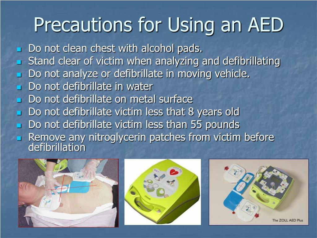 Precautions for Using an AED