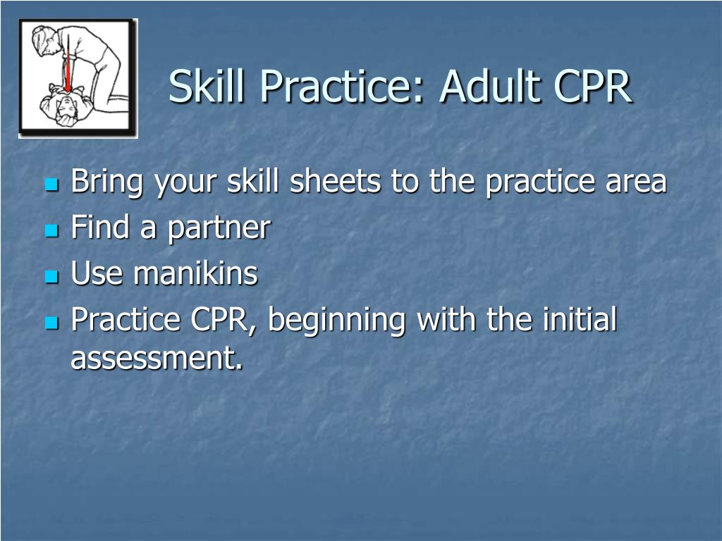 Skill Practice: Adult CPR