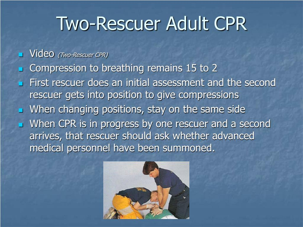 Two-Rescuer Adult CPR