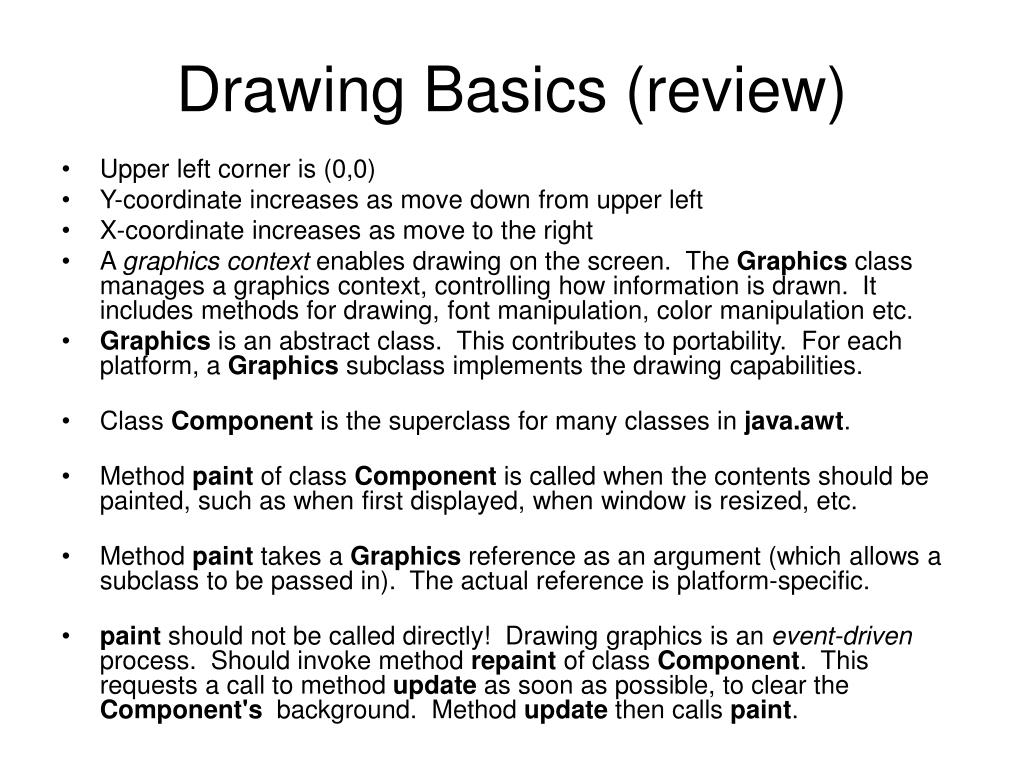 Drawing Basics (review)