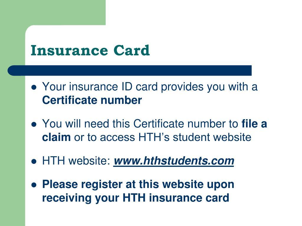Insurance Card
