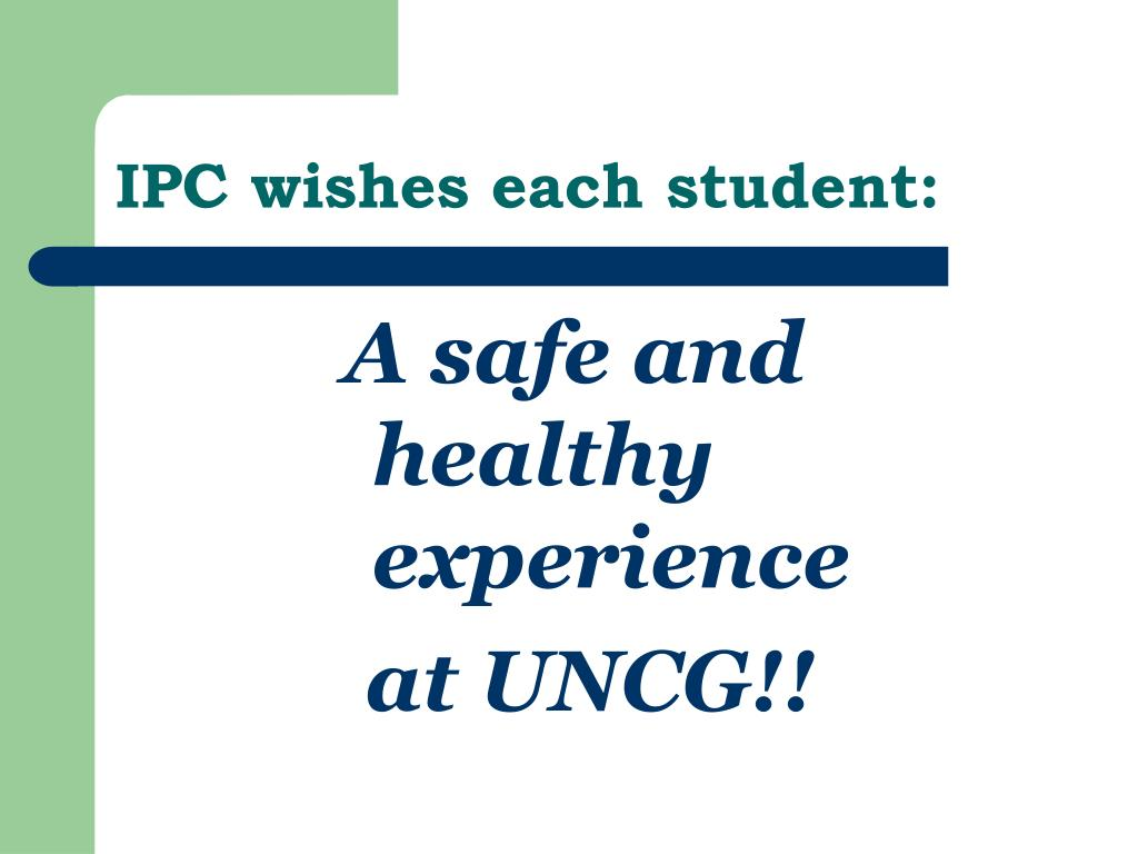 IPC wishes each student: