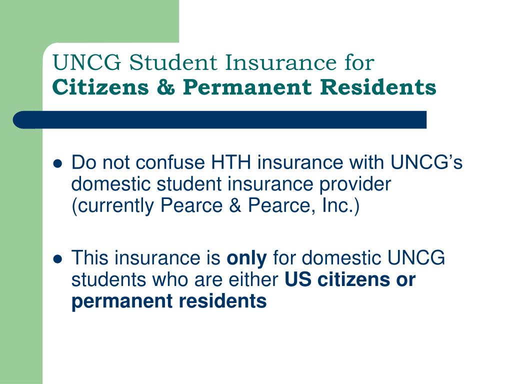 UNCG Student Insurance for