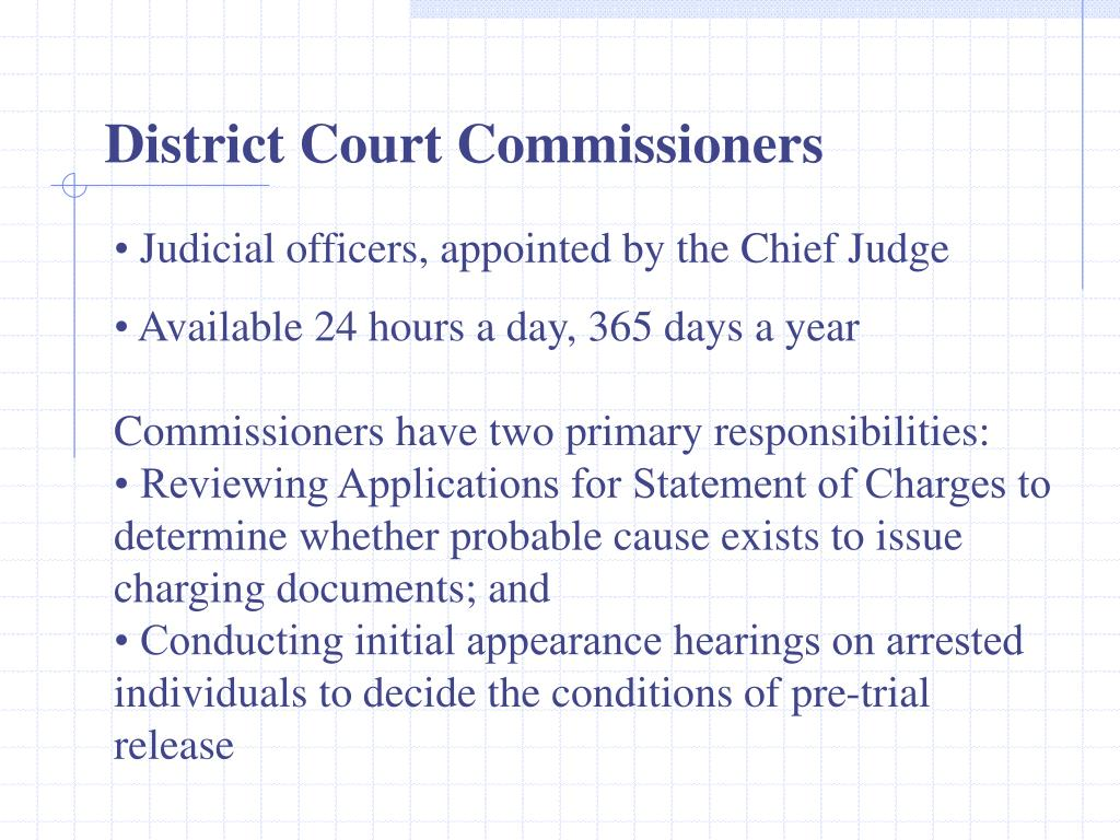 District Court Commissioners