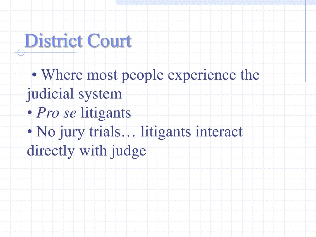 • Where most people experience the judicial system