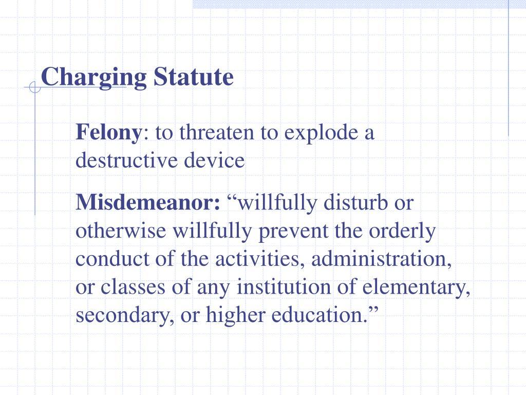 Charging Statute