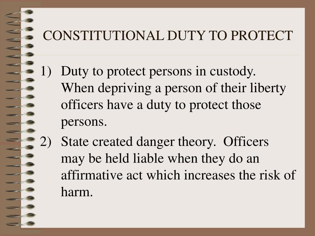the duty to protect the english constitution About the oath to the constitution the constitution prescribed the following oath to be taken by the president-elect: i do solemnly swear that i will faithfully execute the office of.