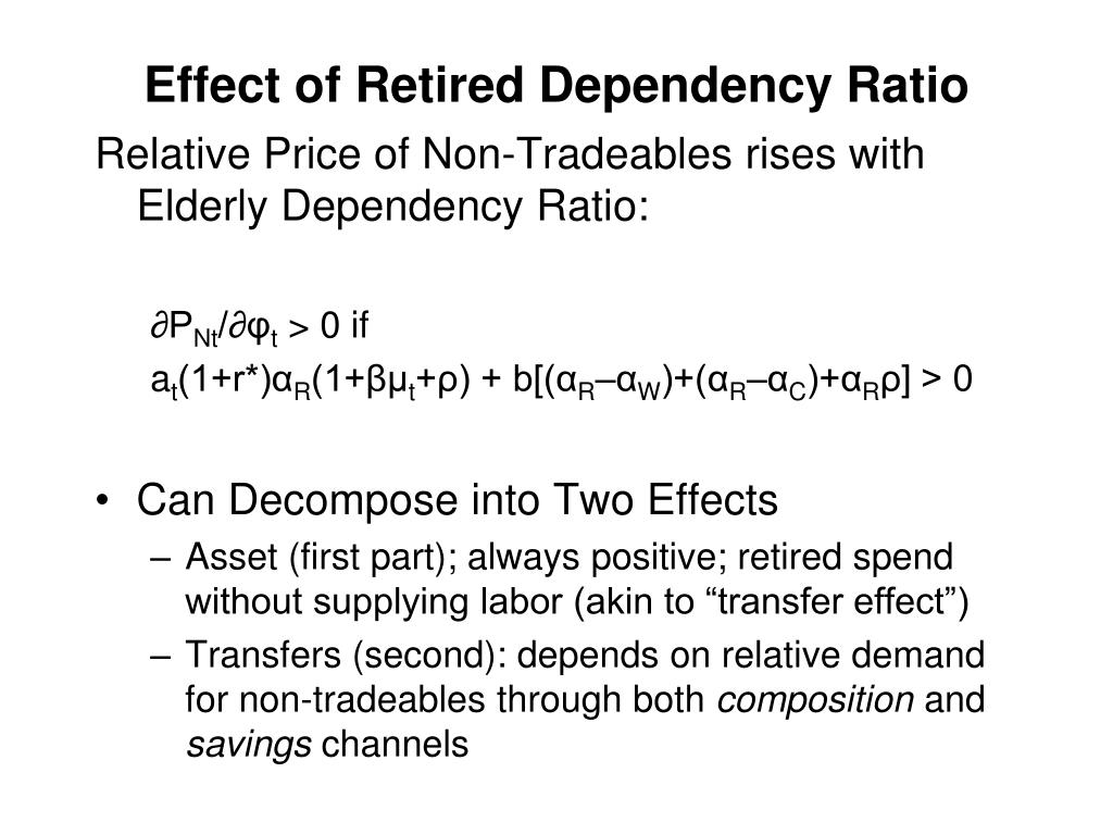 Effect of Retired Dependency Ratio