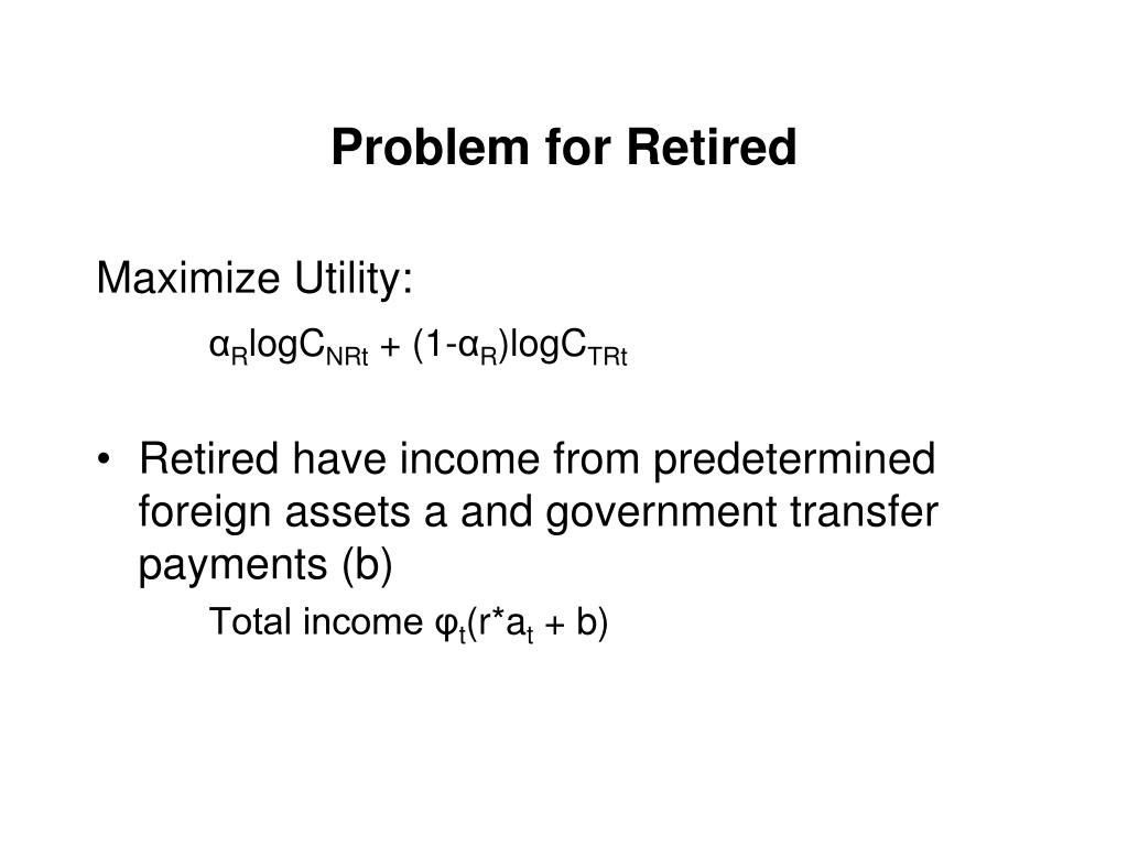 Problem for Retired