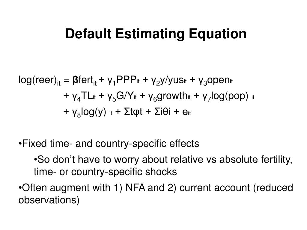 Default Estimating Equation