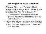 the negative results continue