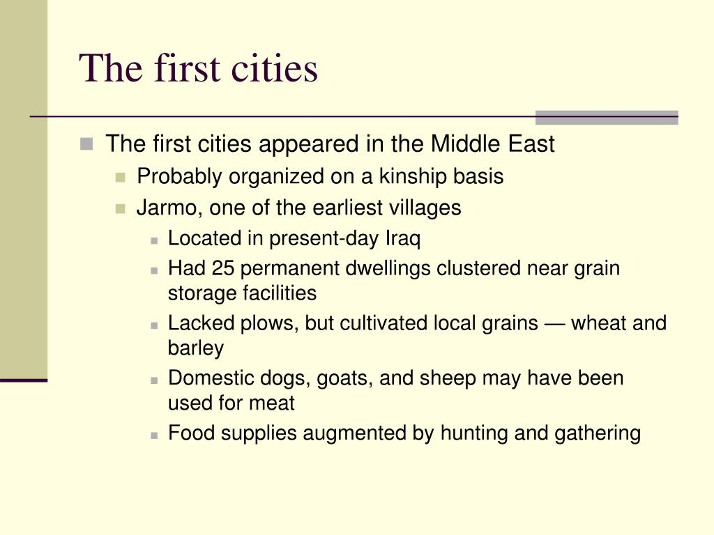 The first cities