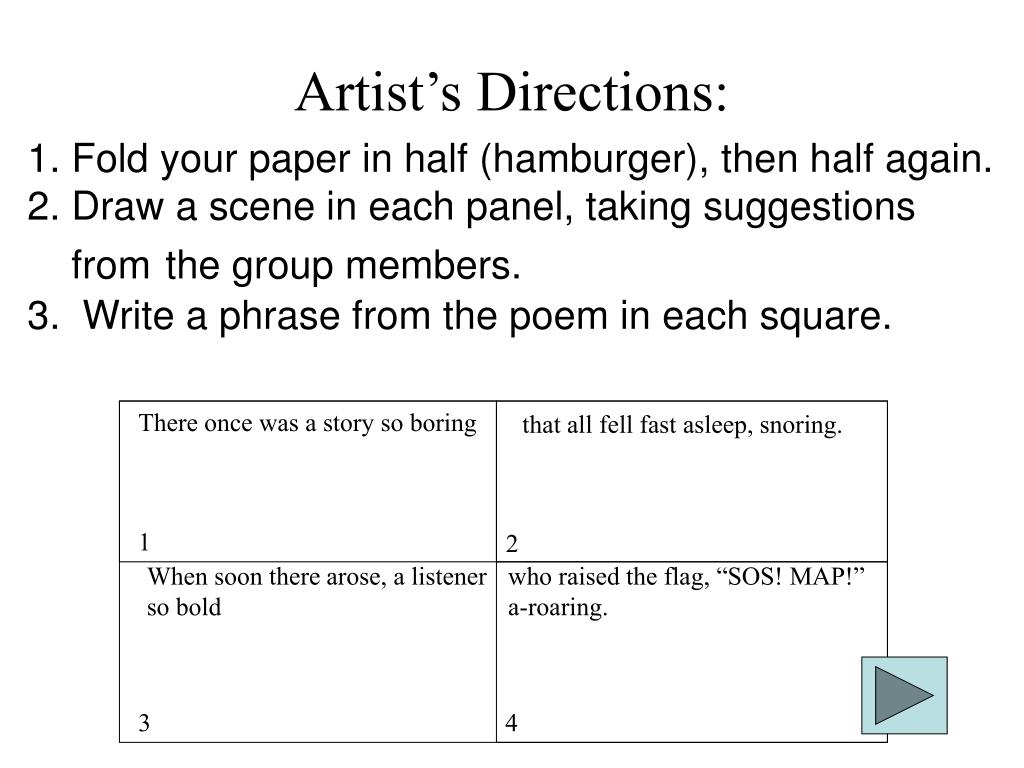 Artist's Directions: