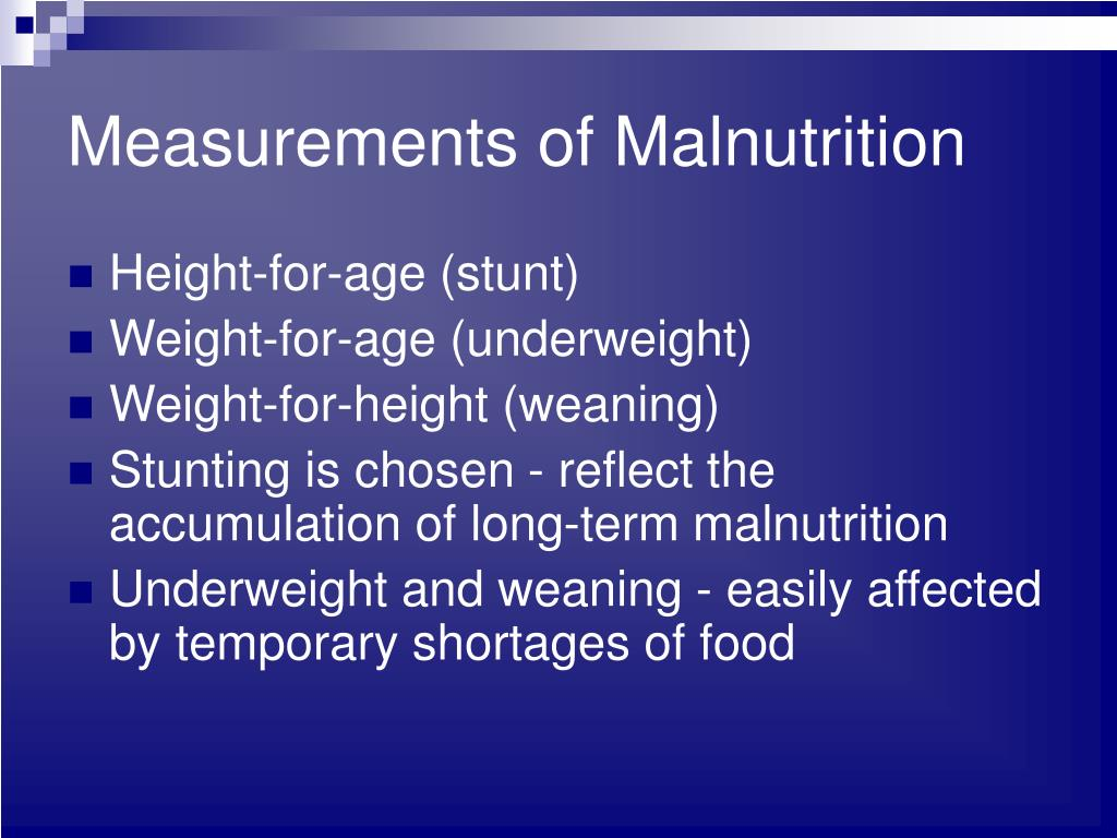 Measurements of Malnutrition