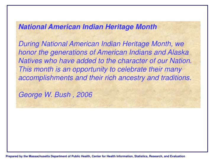 National American Indian Heritage Month