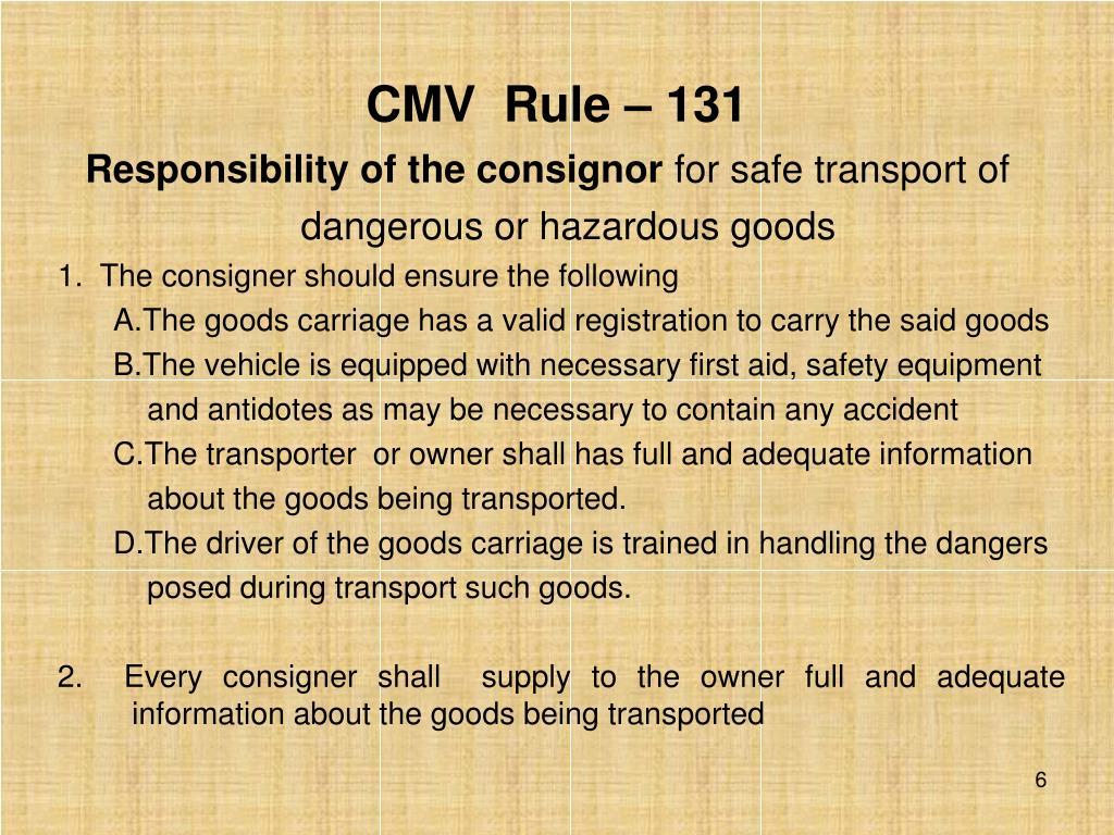 CMV  Rule – 131