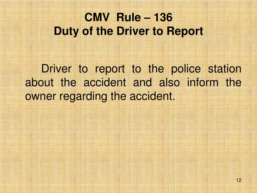 CMV  Rule – 136