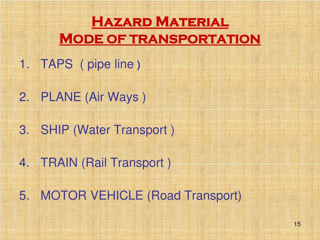 Hazard Material