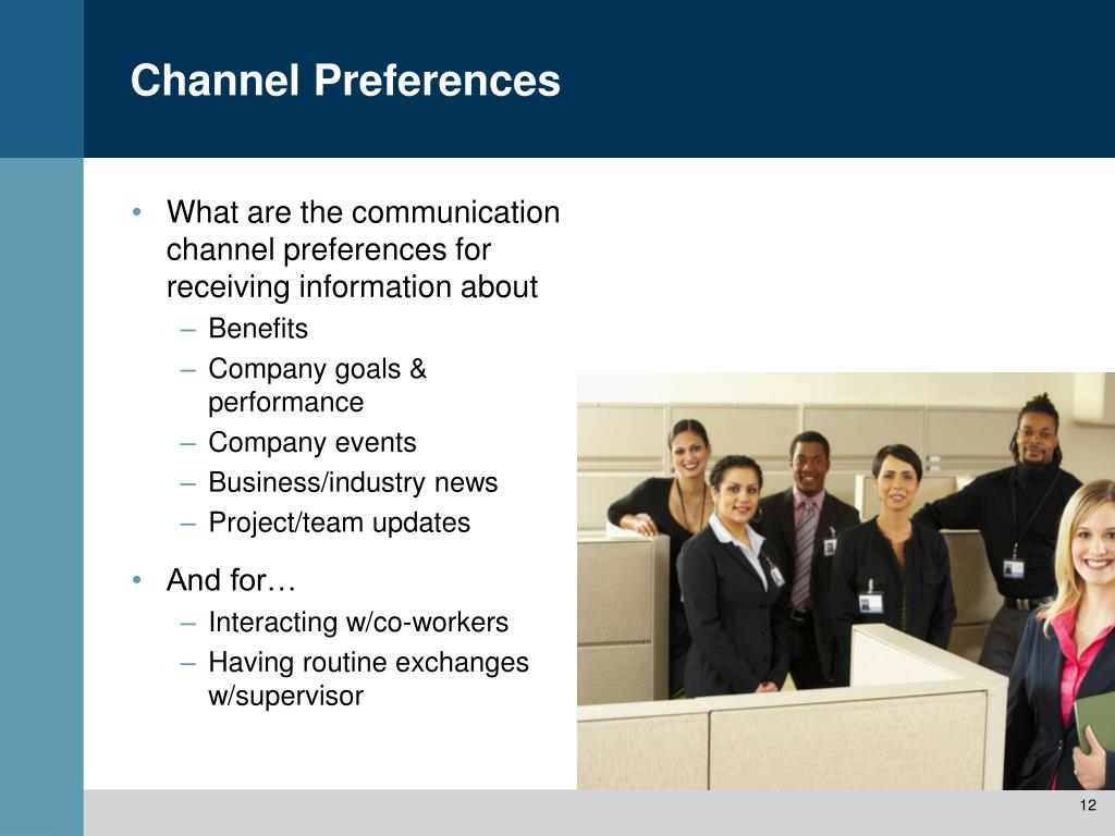 What are the communication channel preferences for receiving information about