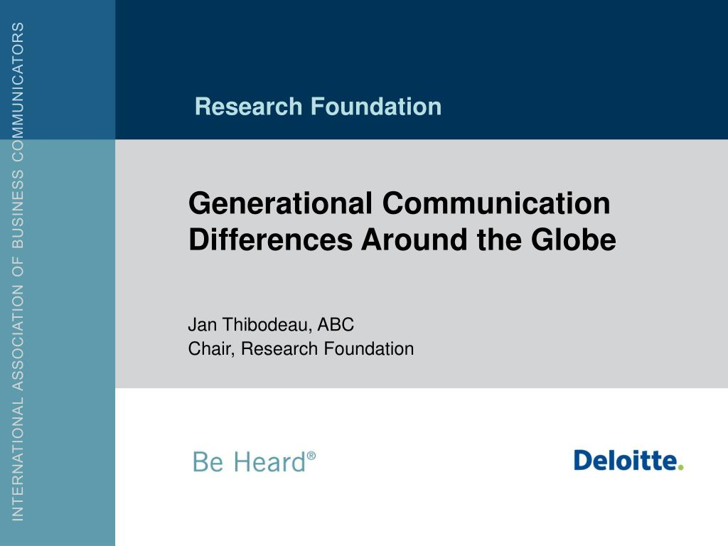 generational communication differences around the globe