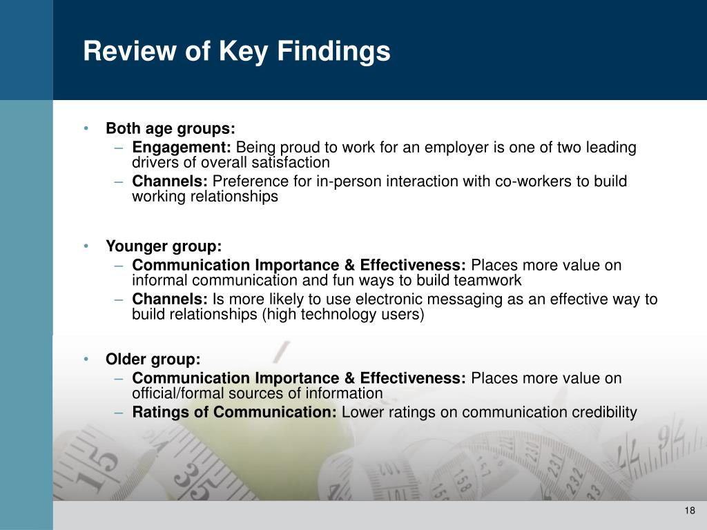 Review of Key Findings