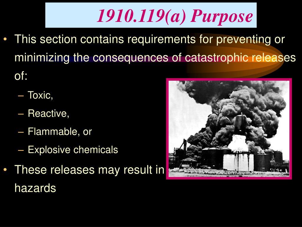1910.119(a) Purpose
