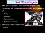 1910 119 a purpose
