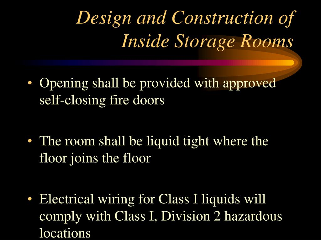 Design and Construction of Inside Storage Rooms