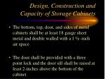 design construction and capacity of storage cabinets61