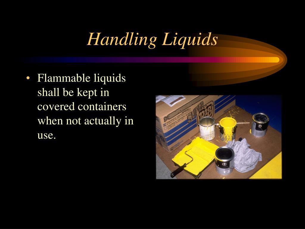 Handling Liquids