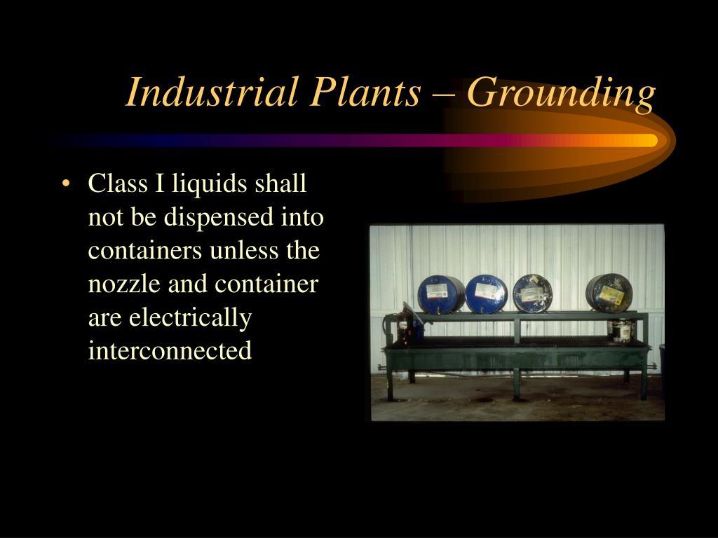 Industrial Plants – Grounding