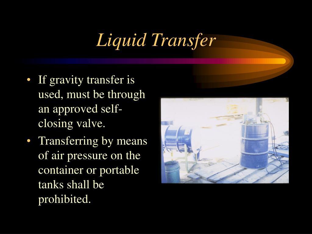 Liquid Transfer