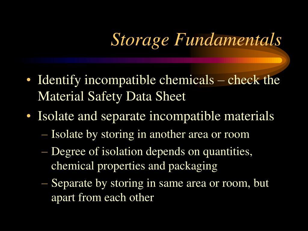 Storage Fundamentals