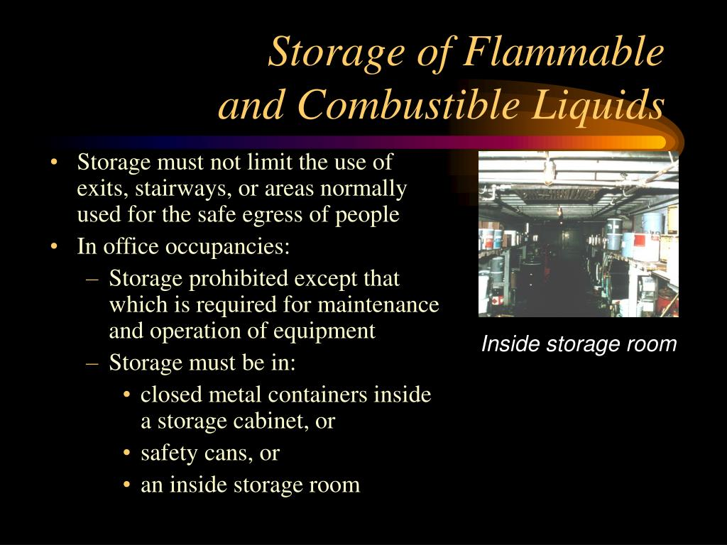 Storage of Flammable