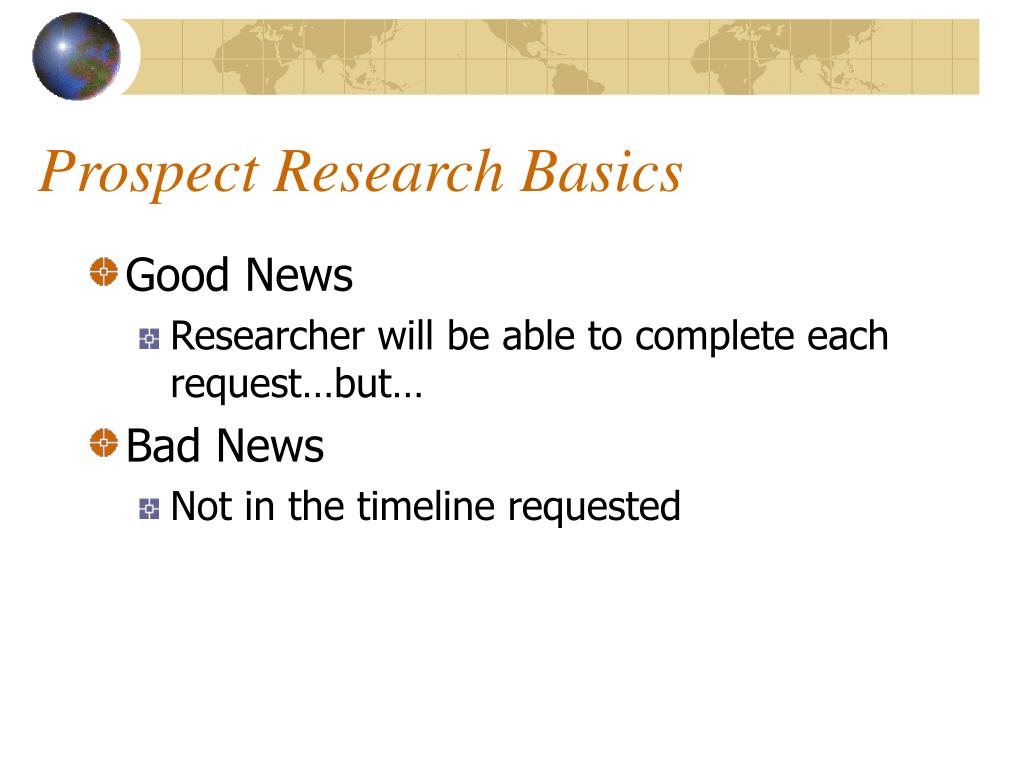 Prospect Research Basics