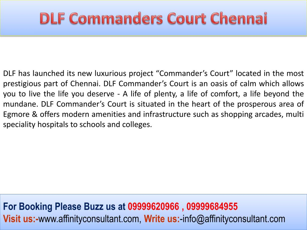 DLF Commanders Court Chennai