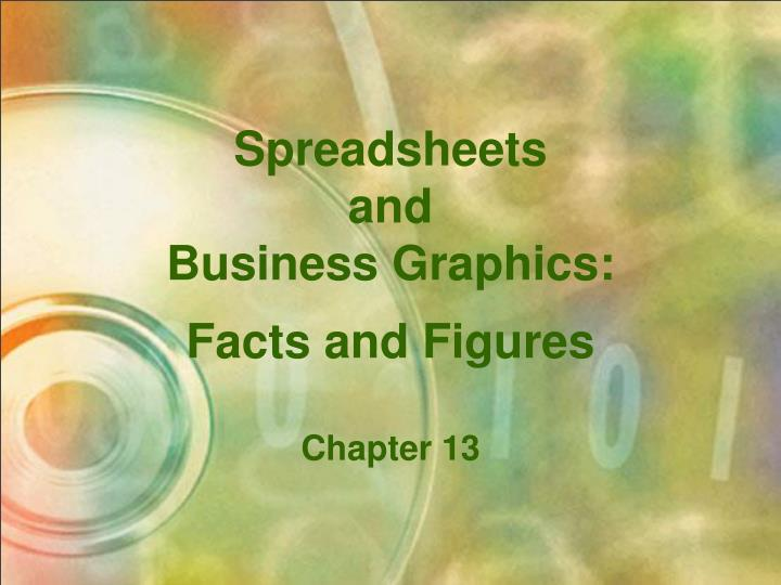 Spreadsheets and business graphics facts and figures