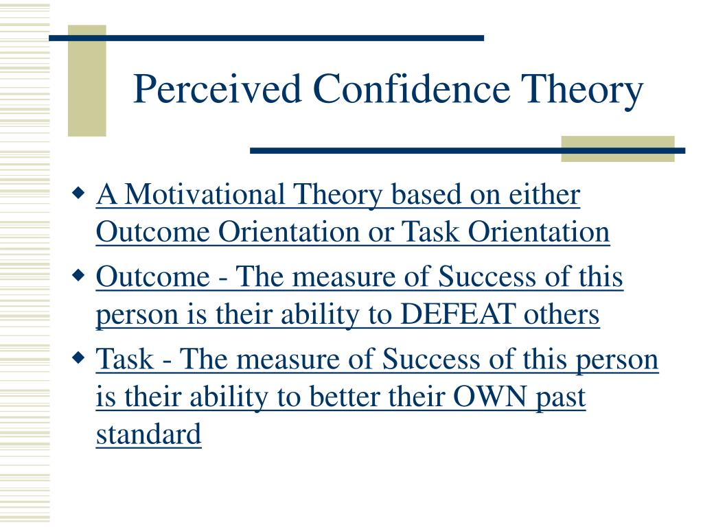Perceived Confidence Theory