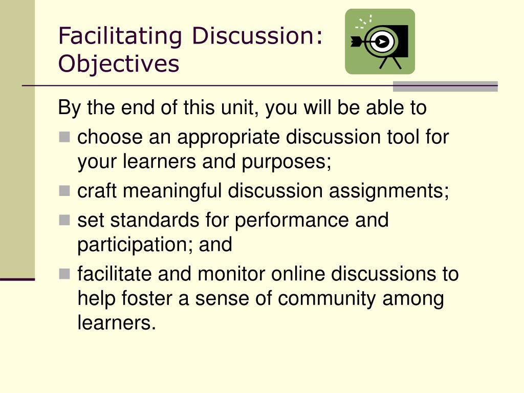 Facilitating Discussion:
