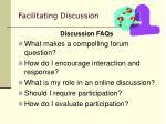 facilitating discussion36