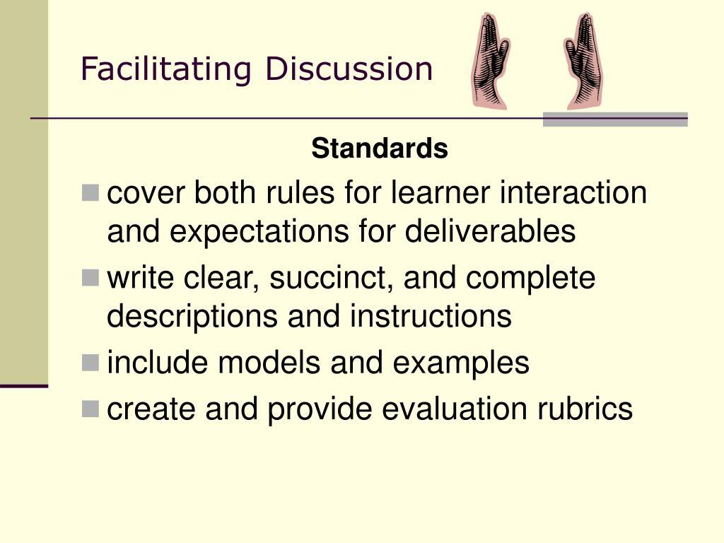 Facilitating Discussion