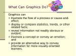 what can graphics do
