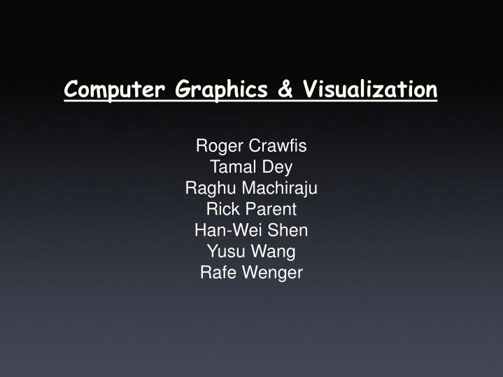 Computer graphics visualization