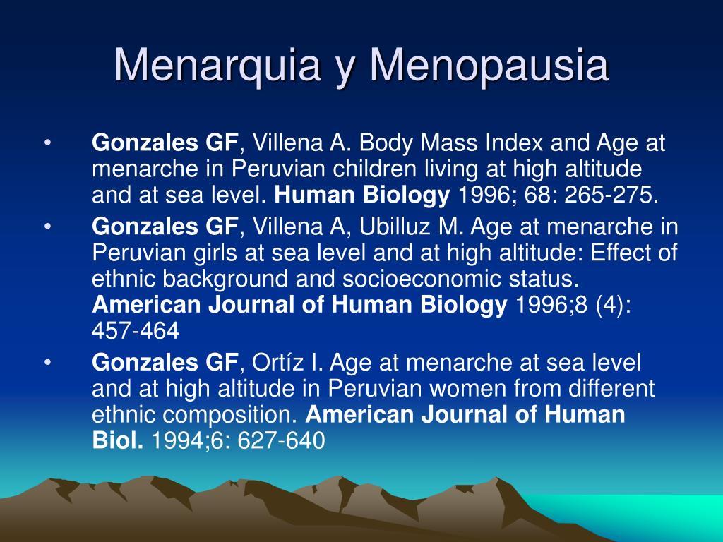Menarquia y Menopausia